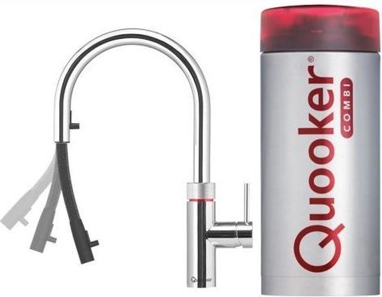Quooker combi plus Flex Chroom 3 in 1